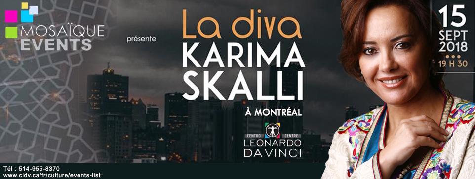 كريمة  الصقلي تلتقي جمهور مونتريال بمسرح ليوناردو دافنشي